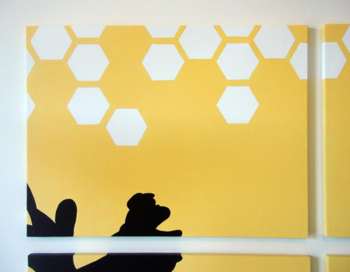 Yellow honeycomb abstract artwork by Ricky Colson