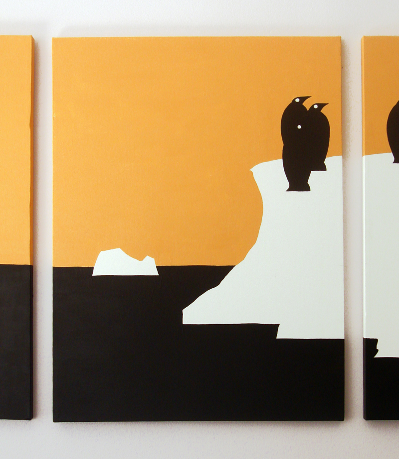Iceberg penguin wall art by Ricky Colson