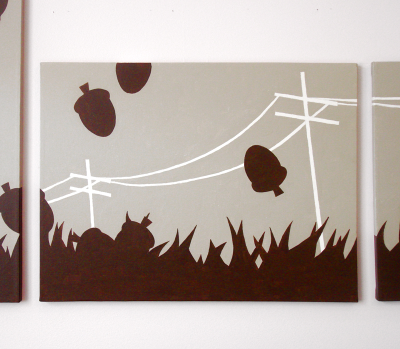 Acorn abstract wall art by Ricky Colson