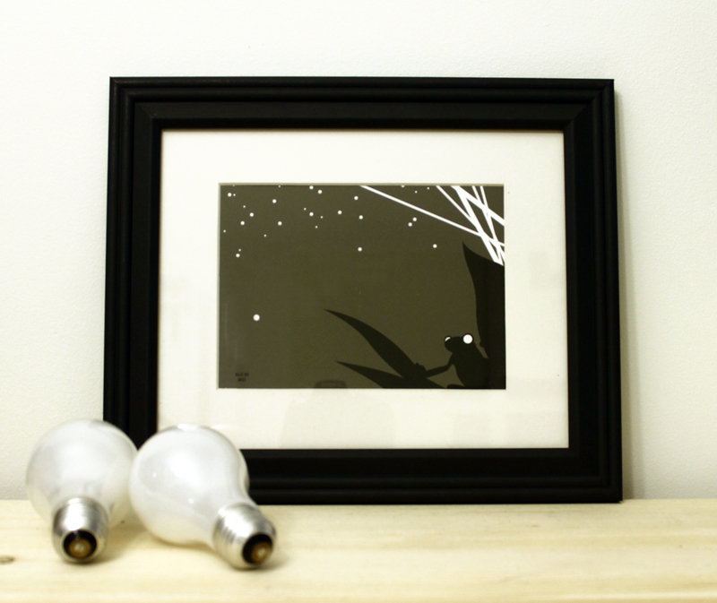 Frog black and white framed art print for sale by Ricky Colson