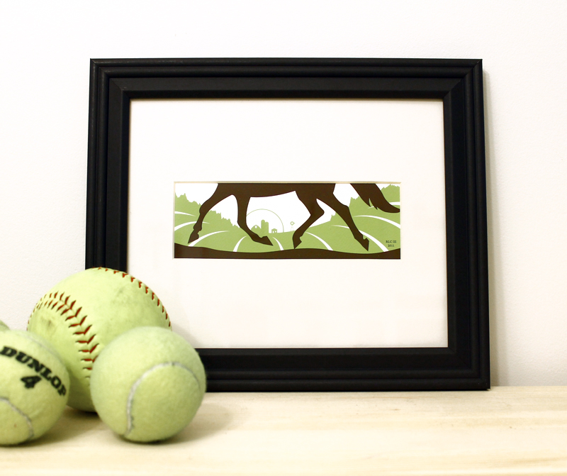 Horse Summer green framed art print for sale by Ricky Colson