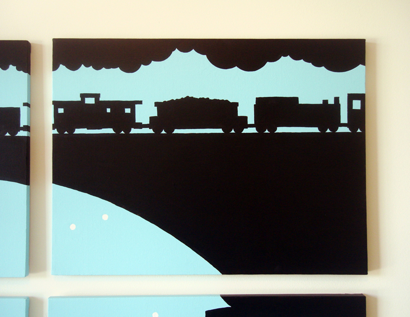 Train kids wall art by Ricky Colson