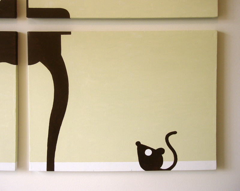Baby mouse abstract wall art by Ricky Colson