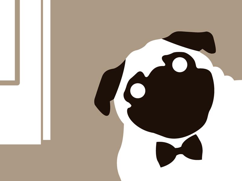 Pug dog pet portrait art print for sale by Ricky Colson