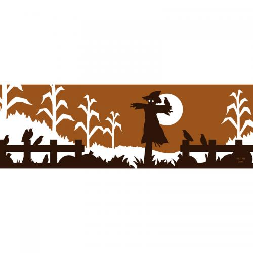 Scarecrow halloween autumn silhouette design for sale by Ricky Colson