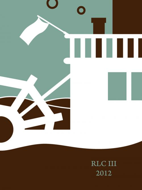 steamboat ferry green white art print minimalist silhouette design for sale by Ricky Colson