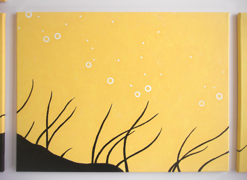 Water bubble and seaweed wall art by Ricky Colson