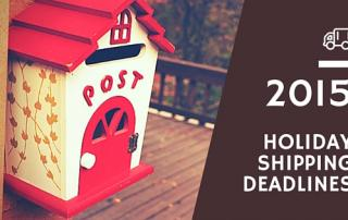 cute mailbox and shipping deadlines