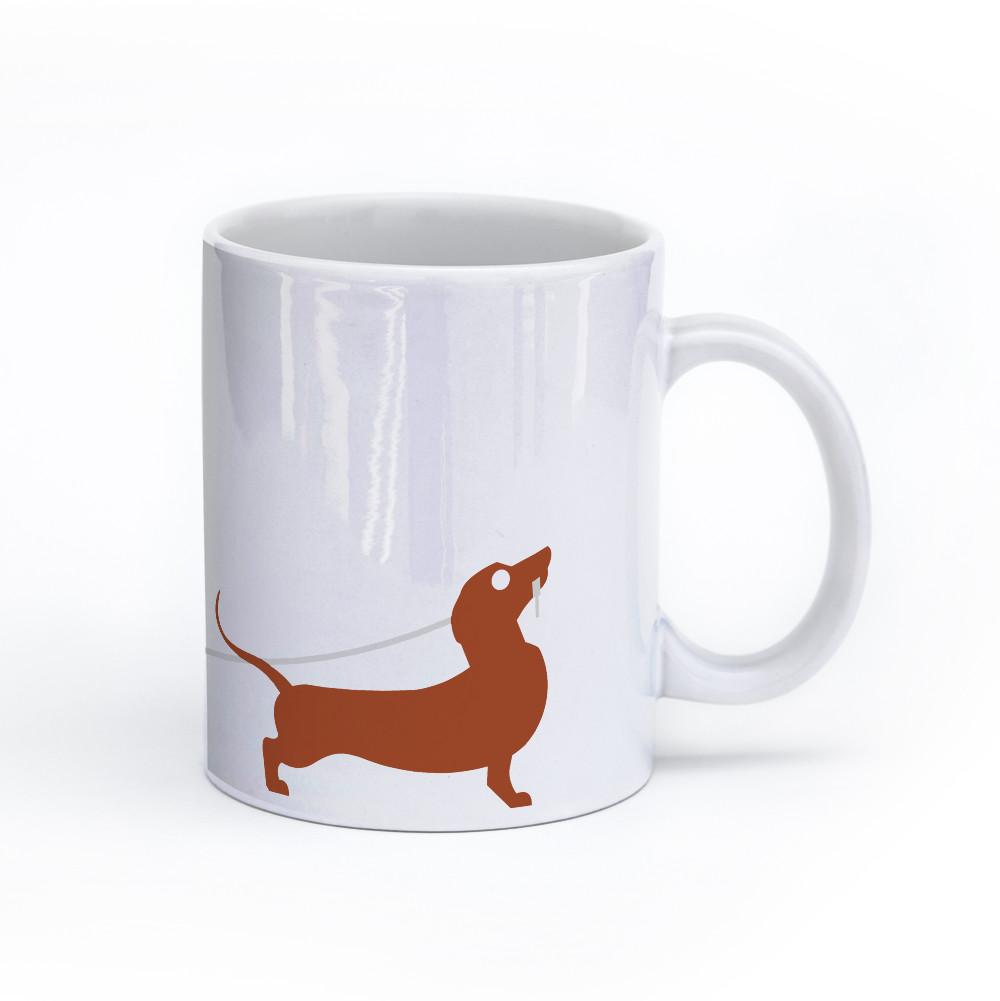 dachshund dog mug 11oz right