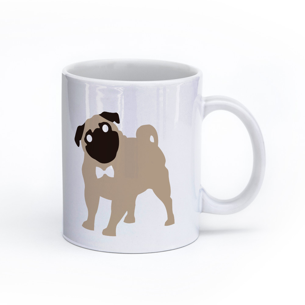 pug dog mug 11oz right