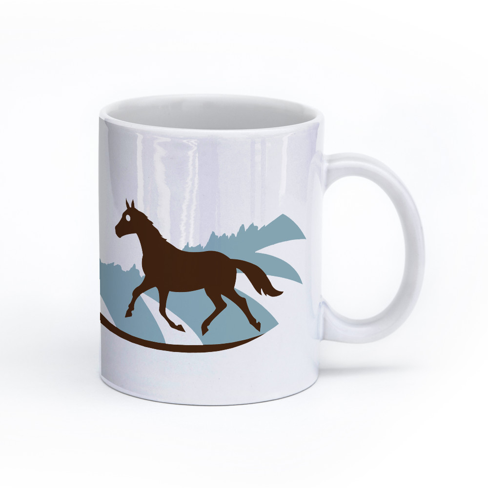 horse mug 11oz right