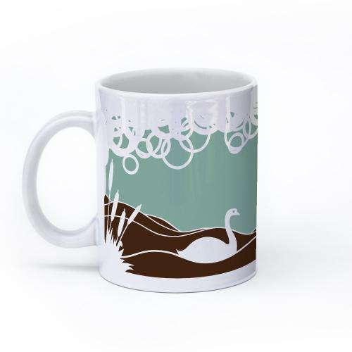 swan mug 11oz left