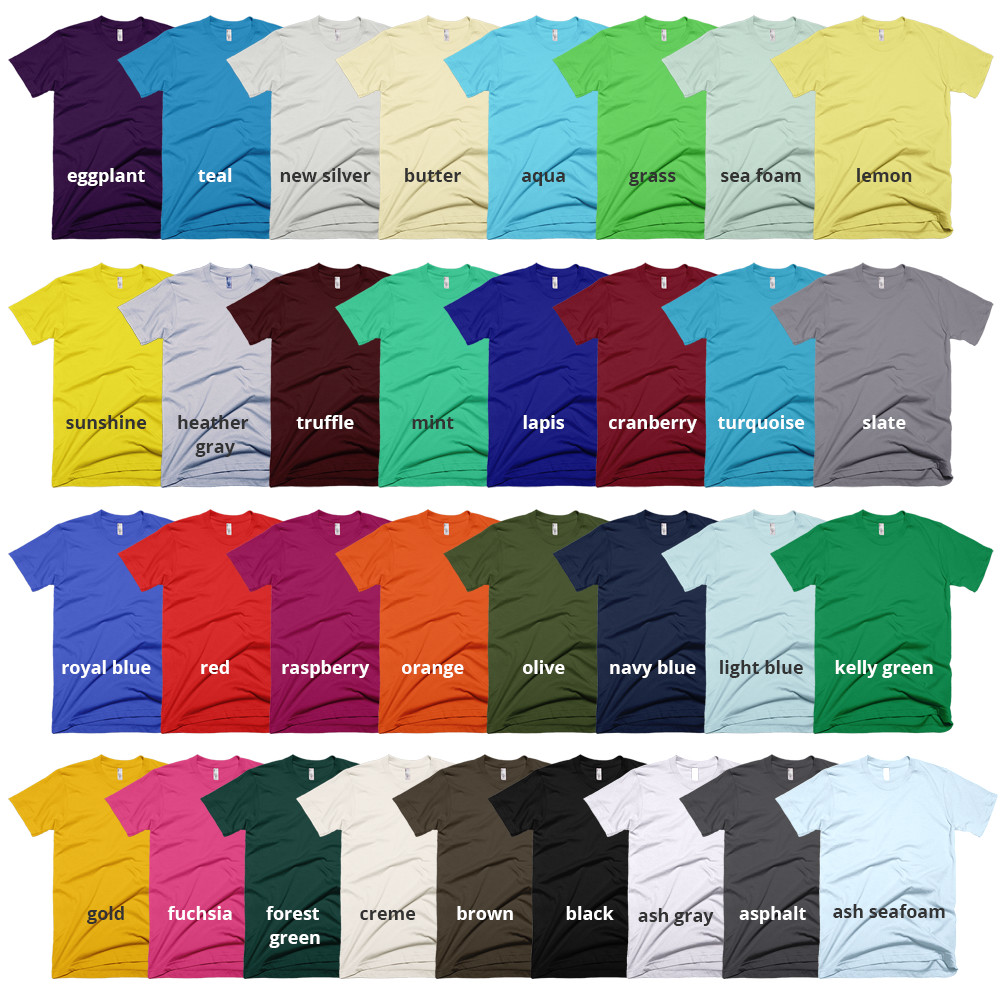 american apparel 2001 colors