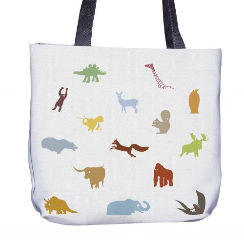 Animal Color Tote Bag Back