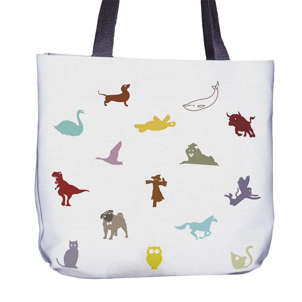 Animal Color Tote Bag Front