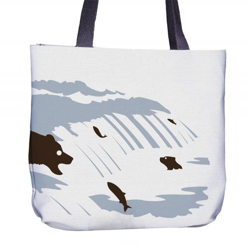 Bear Tote Bag Back