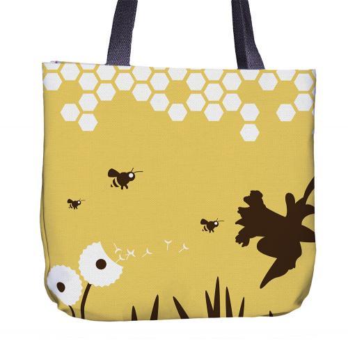 Bee Tote Bag Back