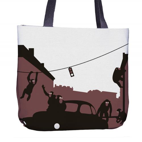 Chimp Tote Bag Back