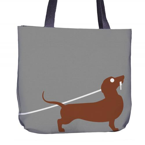 Dachshund Tote Bag Back
