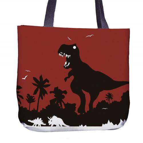 Dinosaur Tote Bag Front
