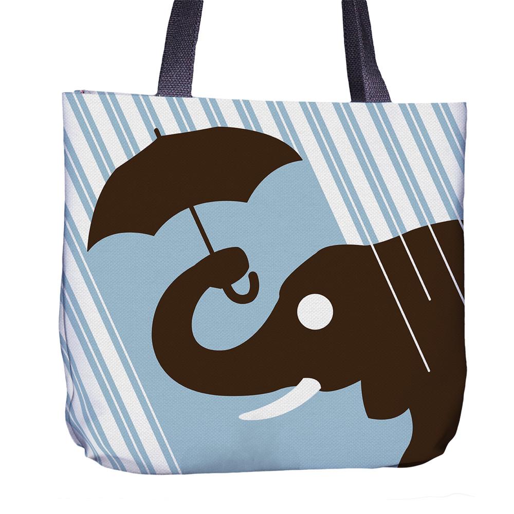 Elephant Tote Bag Back