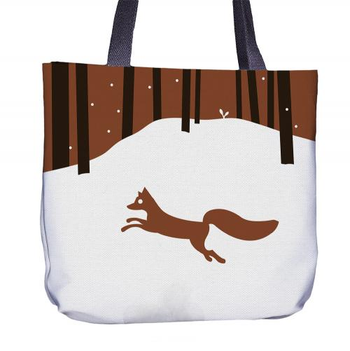 Fox Tote Bag Back