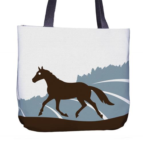 Horse Tote Bag Back