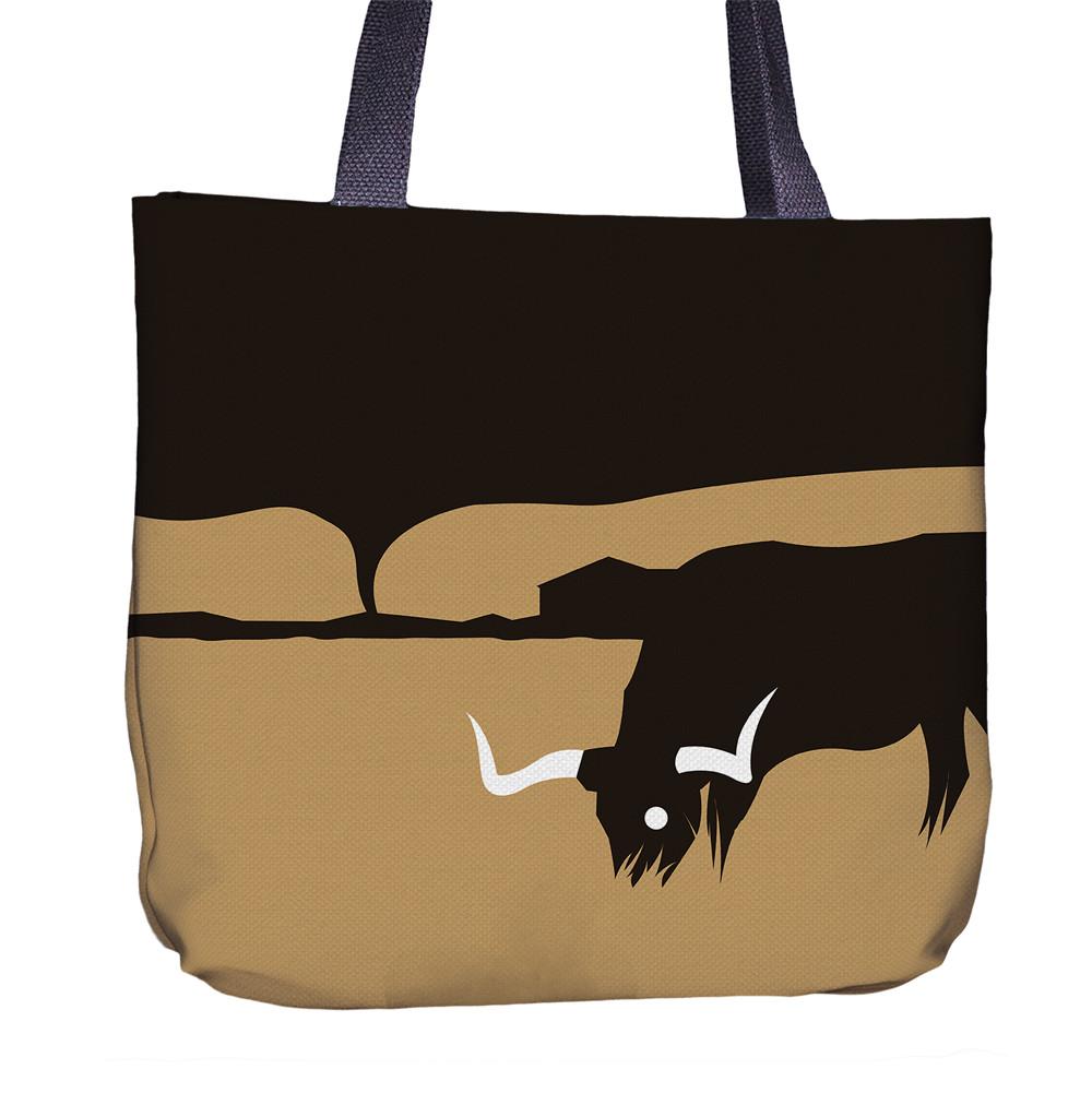 Longhorn Tote Bag Back