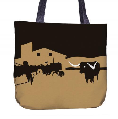 Longhorn Tote Bag Front