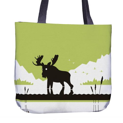 Moose Tote Bag Back