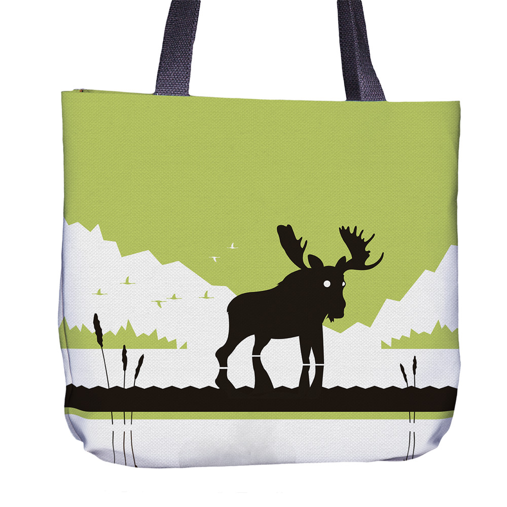 Moose Tote Bag Front