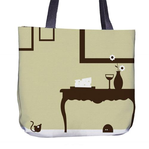 Mouse Tote Bag Back