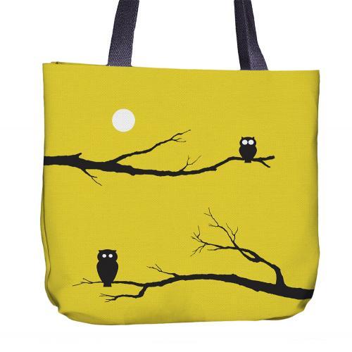 Owl Tote Bag Back