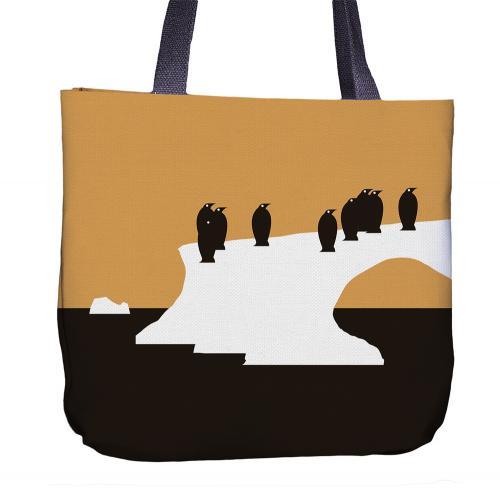 Penguin Tote Bag Back