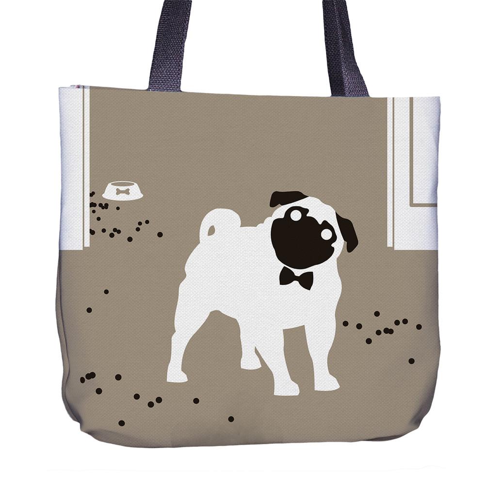 Pug Tote Bag Back