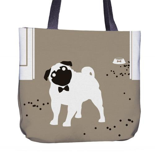 Pug Tote Bag Front
