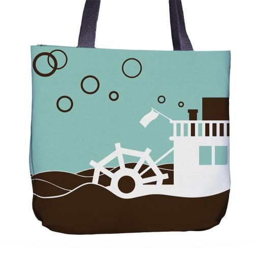 Swan Tote Bag Back