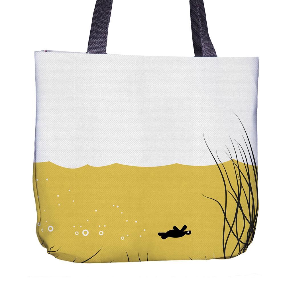 Turtle Tote Bag Back