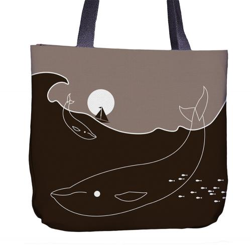 Whale Tote Bag Front