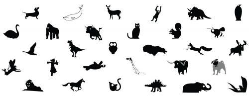 animal mug 11oz black and white design