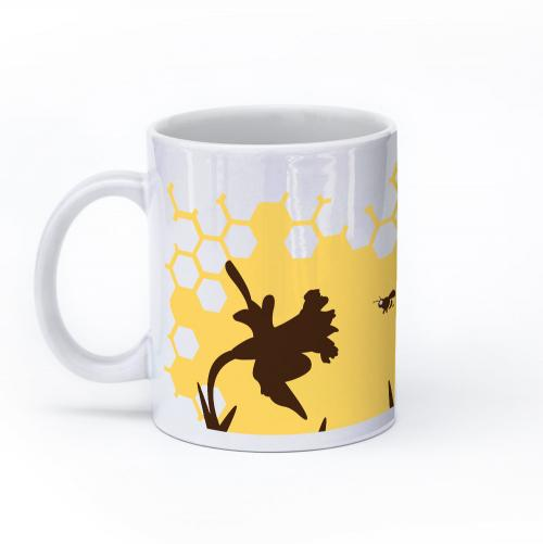 bee mug 11oz left
