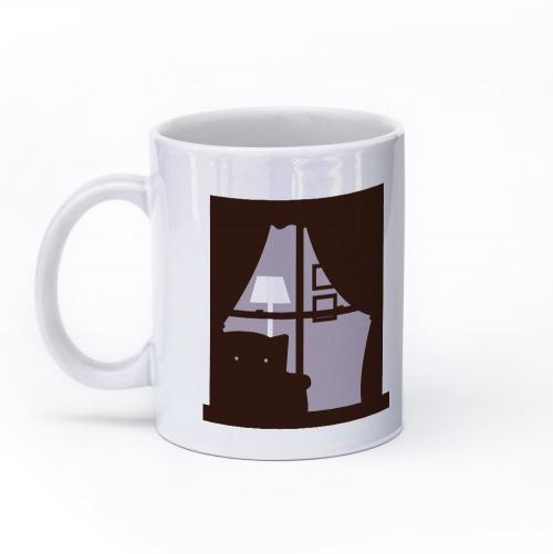 cat mug 11oz left