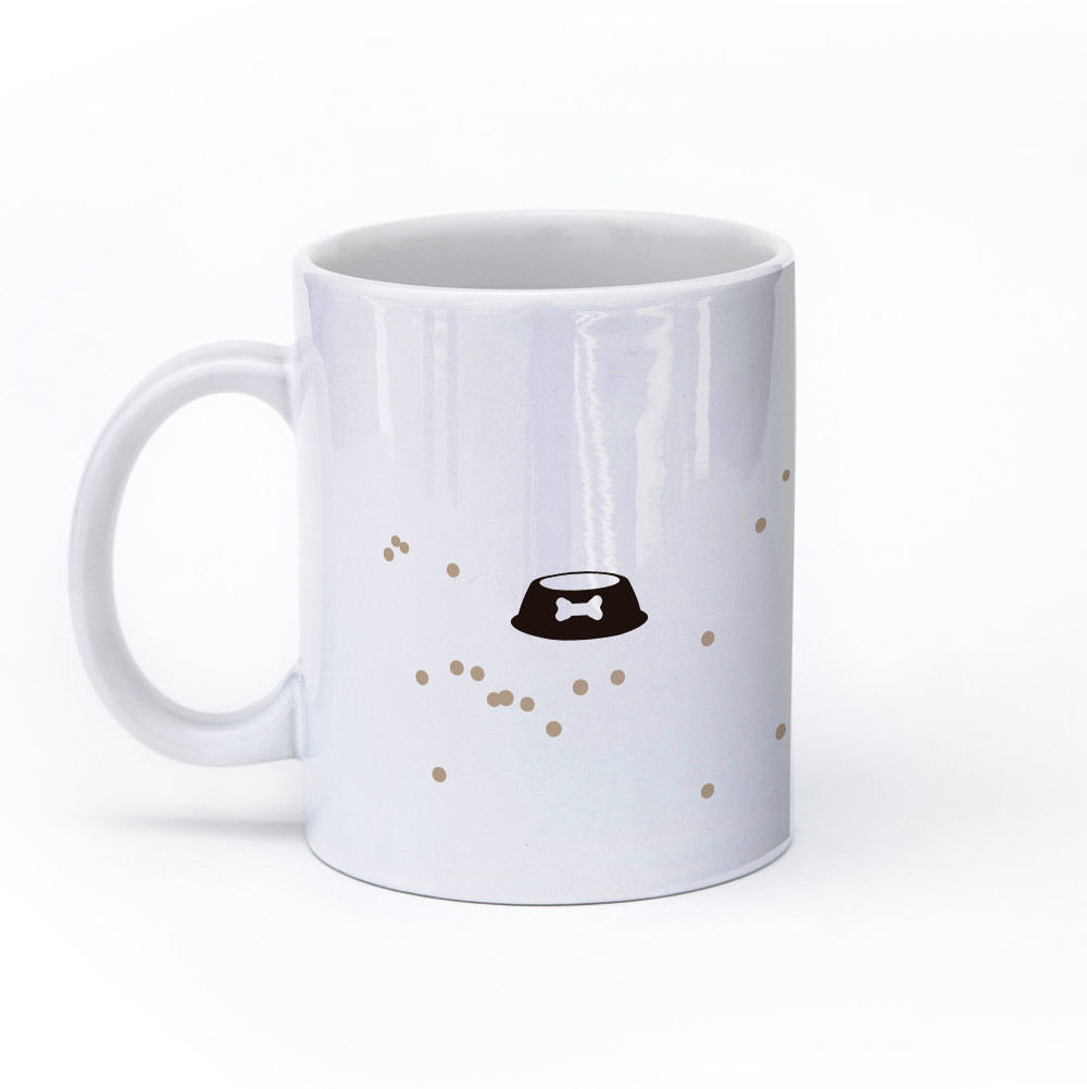 pug dog mug 11oz left