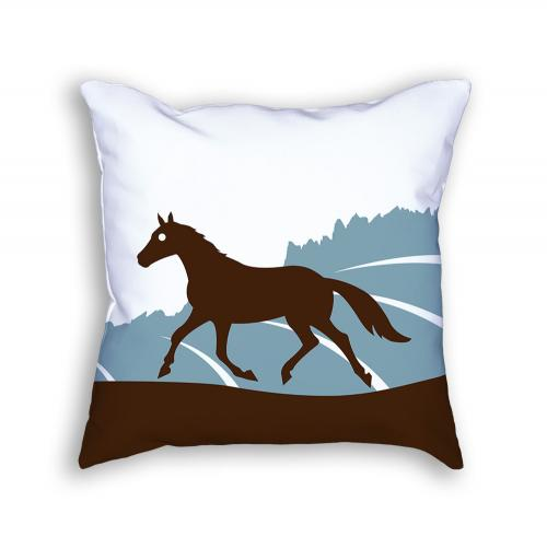 Horse Pillow Front