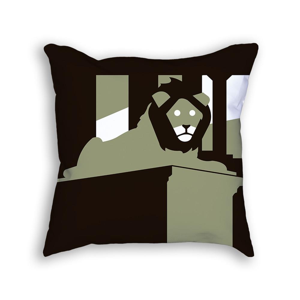 Lion Pillow Back