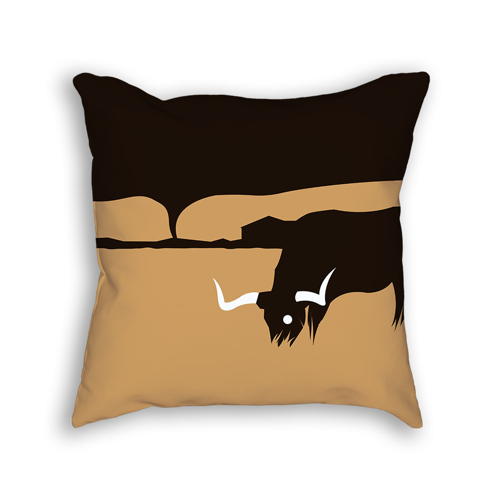 Longhorn Pillow Back