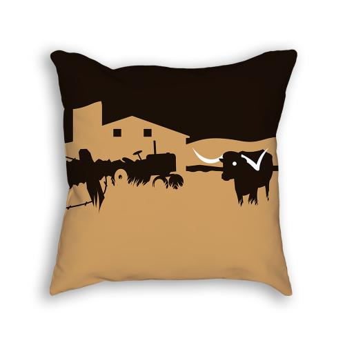 Longhorn Pillow Front