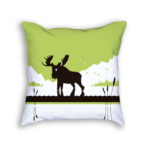 Moose Pillow Back