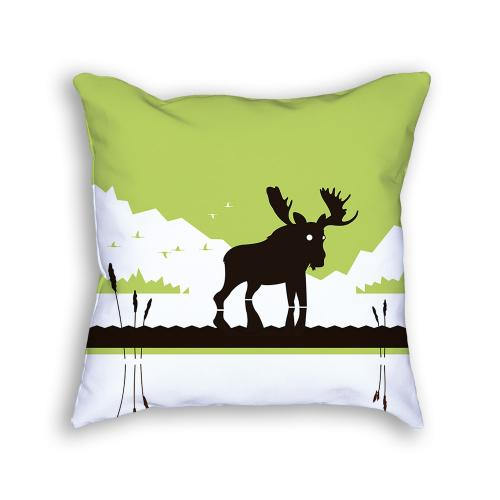Moose Pillow Front