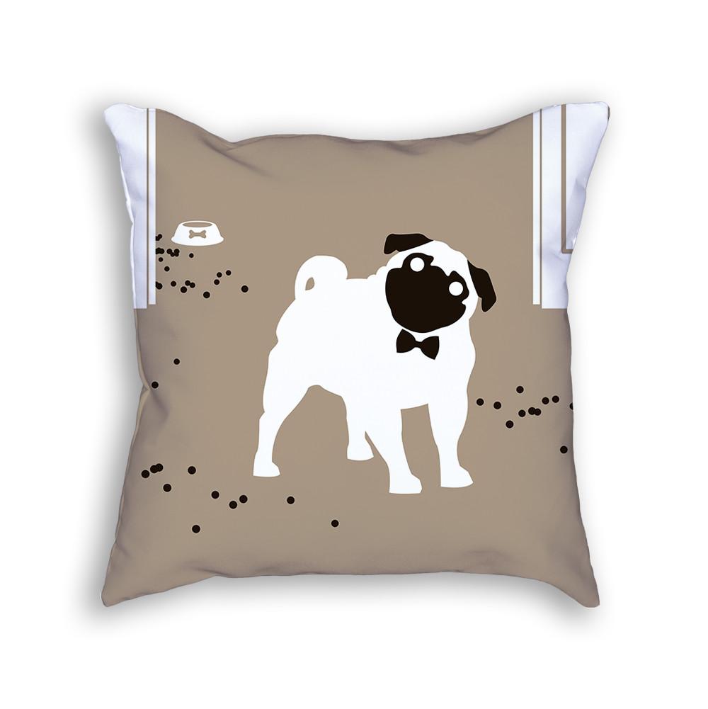 Pug Pillow Back